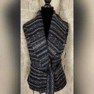 Lauren Ralph Lauren Belted Shrug Wool Shawl Vest